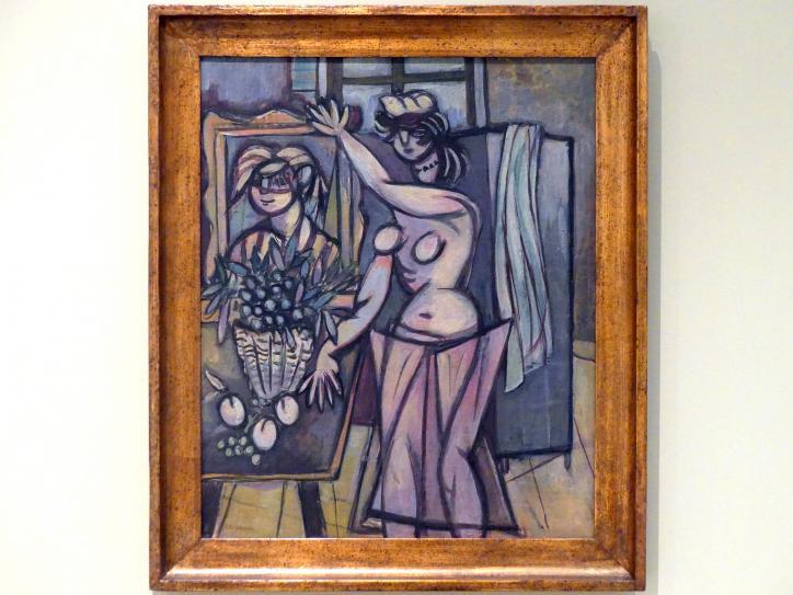 Jakub Bauernfreund: Frau mit Gemälde, 1936