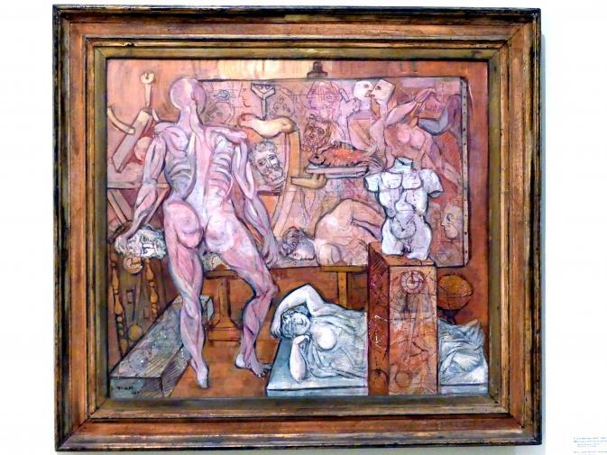 Endre Nemes: Raum mit antiken Statuen, 1937