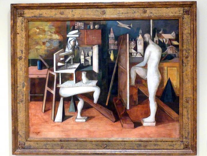 Endre Nemes: Maler im Atelier, 1938