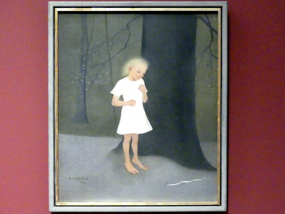 Milada Marešová: Kind mit Ringelnatter, 1926