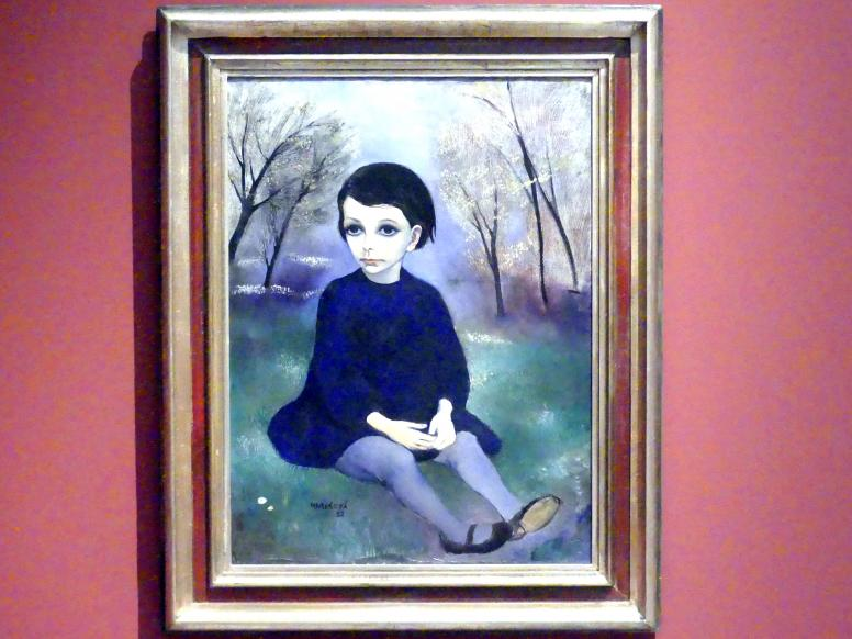 Milada Marešová: Kind in blauem Kleid, 1932