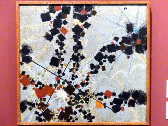 Vojtěch Preissig: Komposition mit Quadraten, Sternen und Wellenlinien, 1937