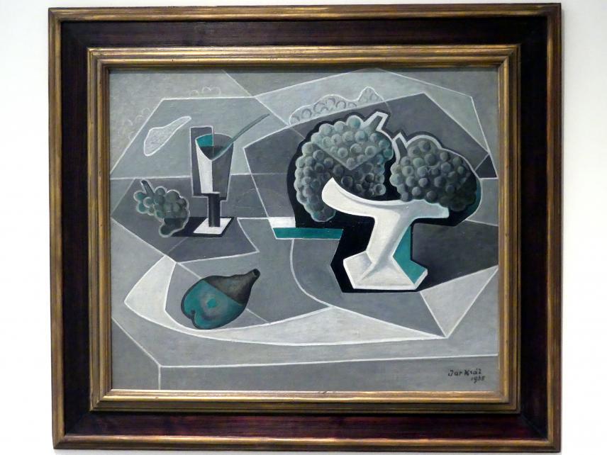 Jaroslav Král: Stillleben mit Tablett, 1935