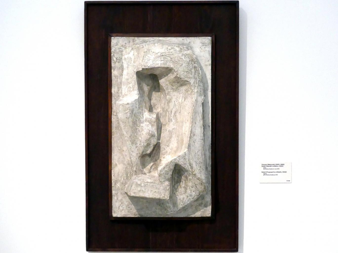 Vincenc Makovský: Relief (Vorschlag für ein Relief), 1932