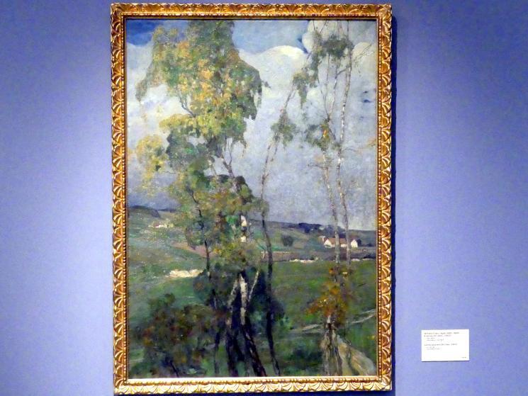 Wenzel Franz Jäger: Landschaft mit Birken, 1902