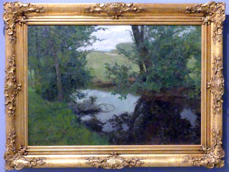 Alois Kalvoda: Sommerlandschaft (Landschaft mit Fluss), 1927