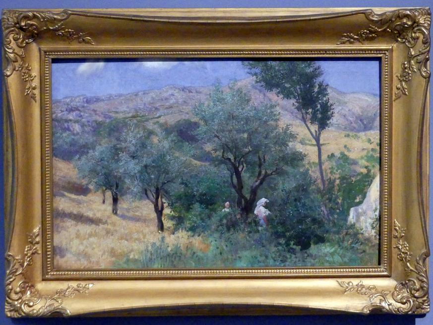 Franz Thiele: Olivenhain in Anticoli, 1894