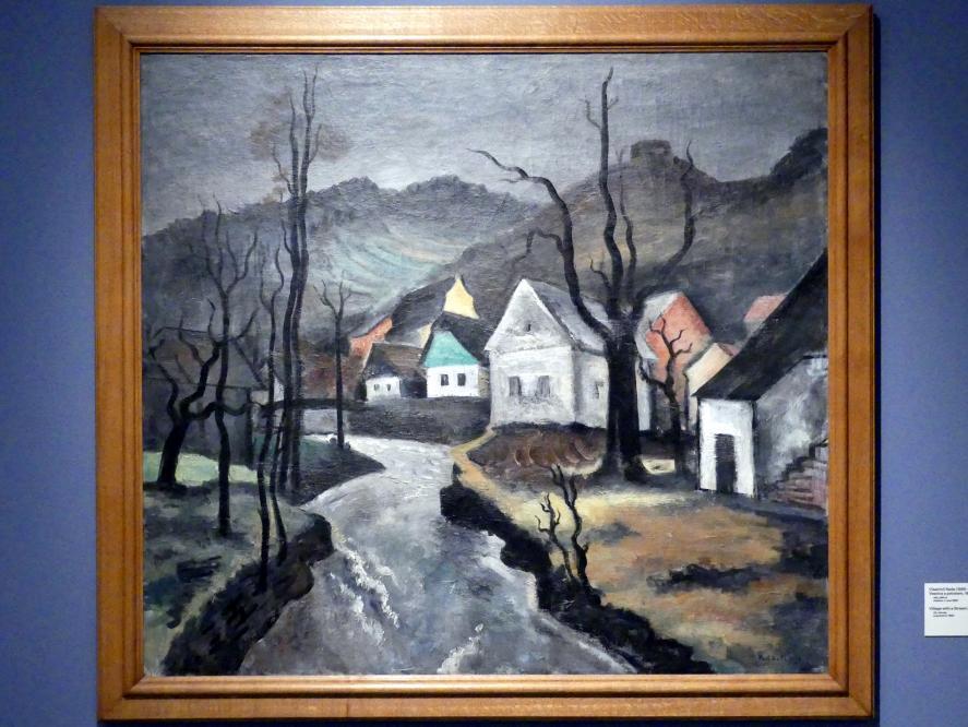 Vlastimil Rada: Dorf mit FLuss, 1927
