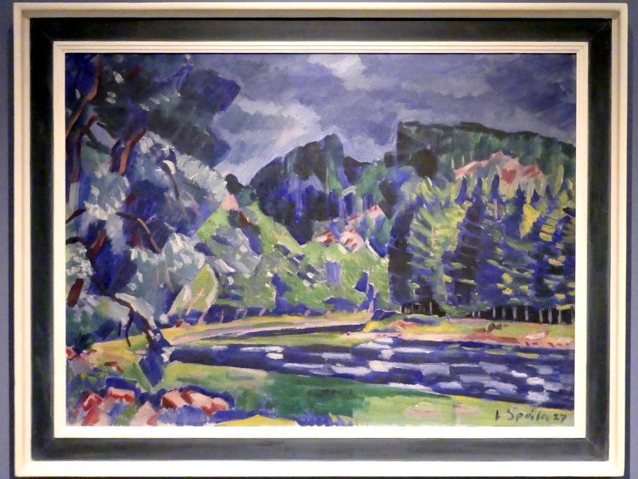 Václav Špála: Am Fluss (die Moldau bei Červená), 1927