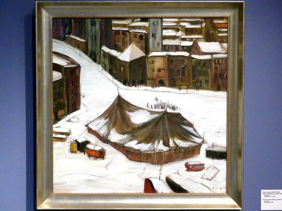 Otto Langer: Zirkus im Schnee, um 1923
