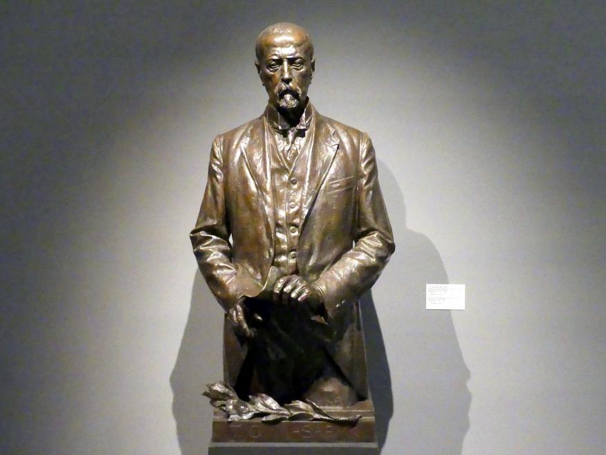 Jan Štursa: Porträt des Präsidenten Tomáš Garrigue Masaryk, 1920 - 1921