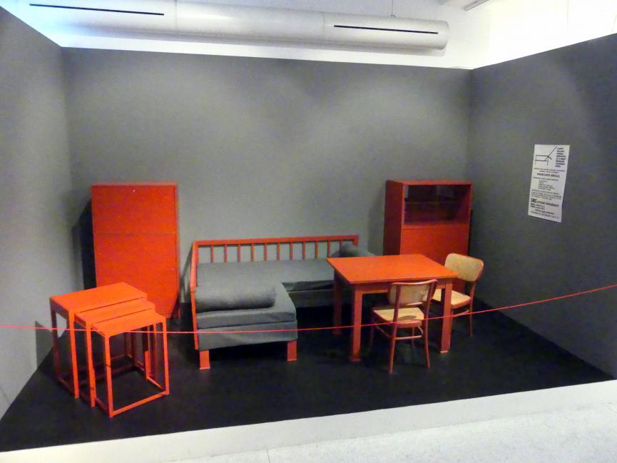 Jan Vaněk: Mährische Möbelkollektion für den Wohnzimmer-Essbereich, 1930