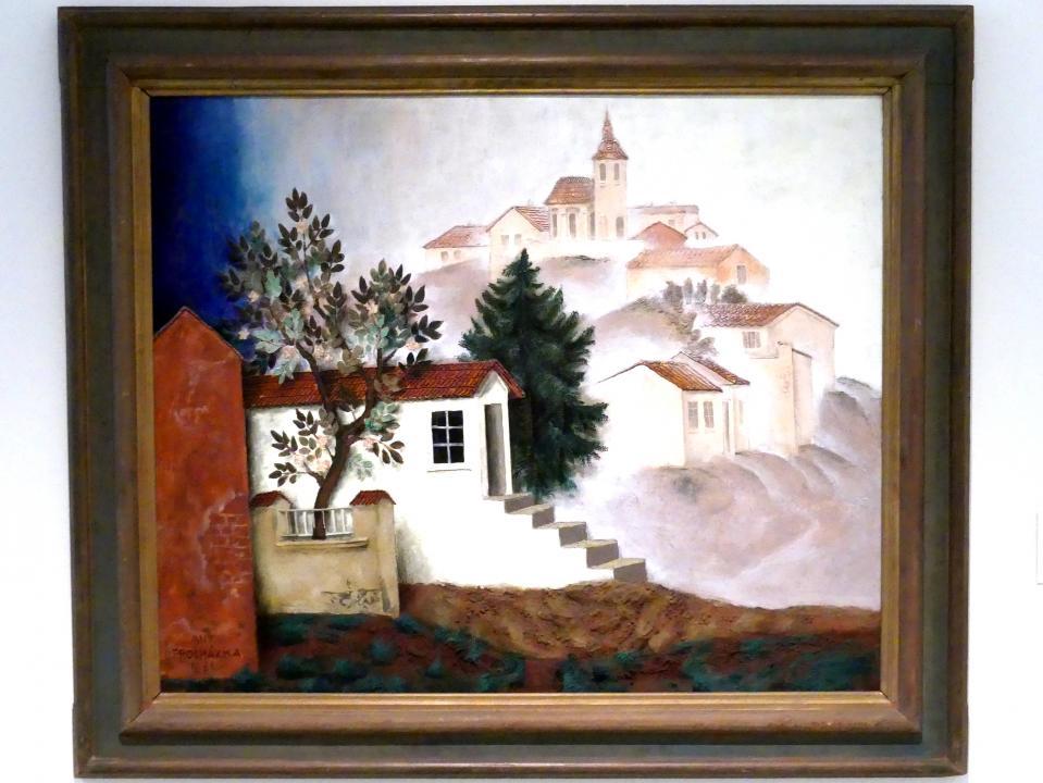 Antonín Procházka: Dorf mit Kirche, 1931