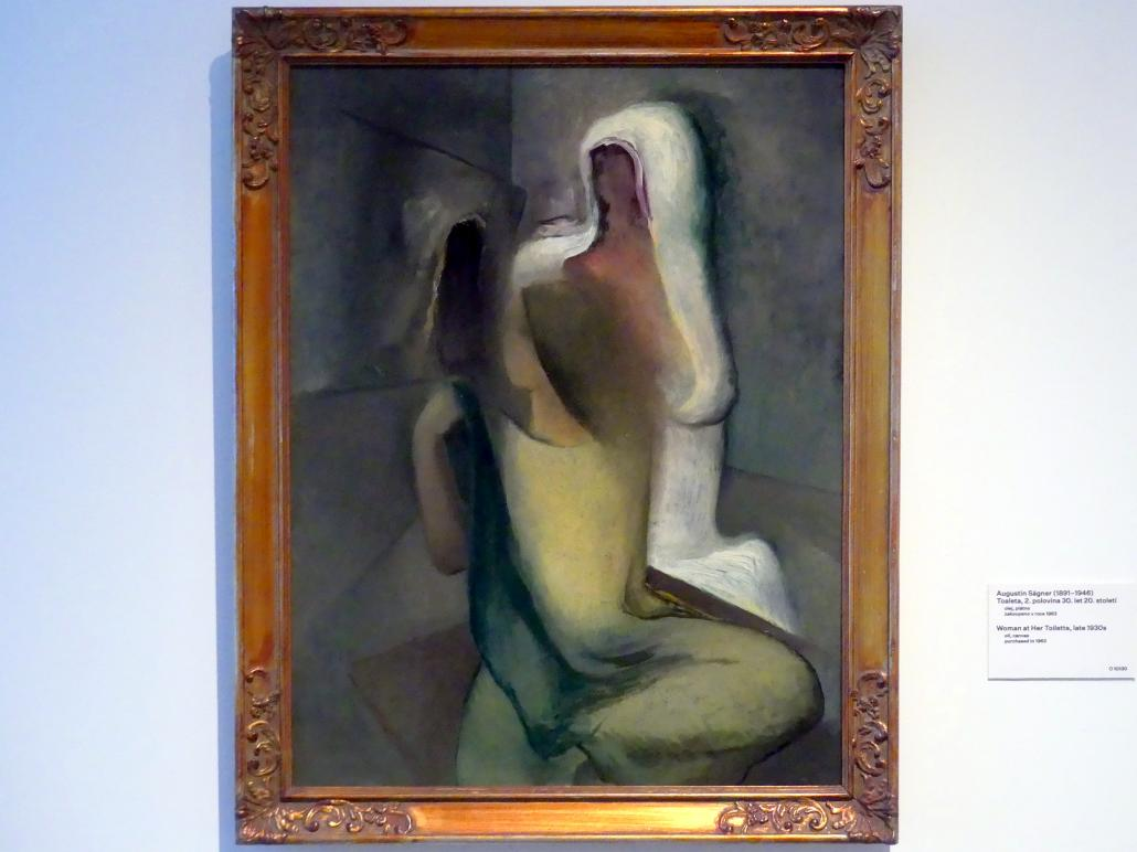 Augustin Ságner: Frau bei der Toilette, um 1930 - 1935