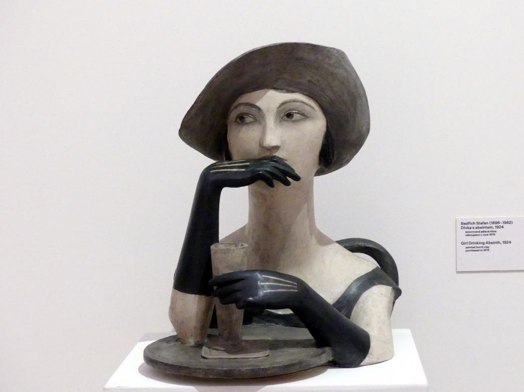 Bedřich Stefan: Absinth trinkendes Mädchen, 1924