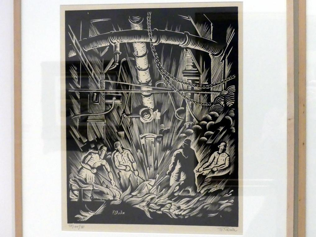 Ferdiš Duša: Entleerung des Hochofens (Eisen ablassen) Nr. IV, 1922