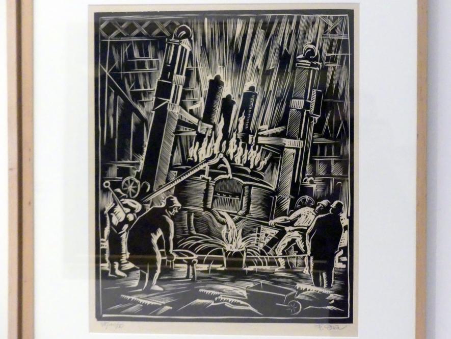 Ferdiš Duša: Entleerung des Kessels (Elektrischer Schmelzofen) Nr. V, 1922
