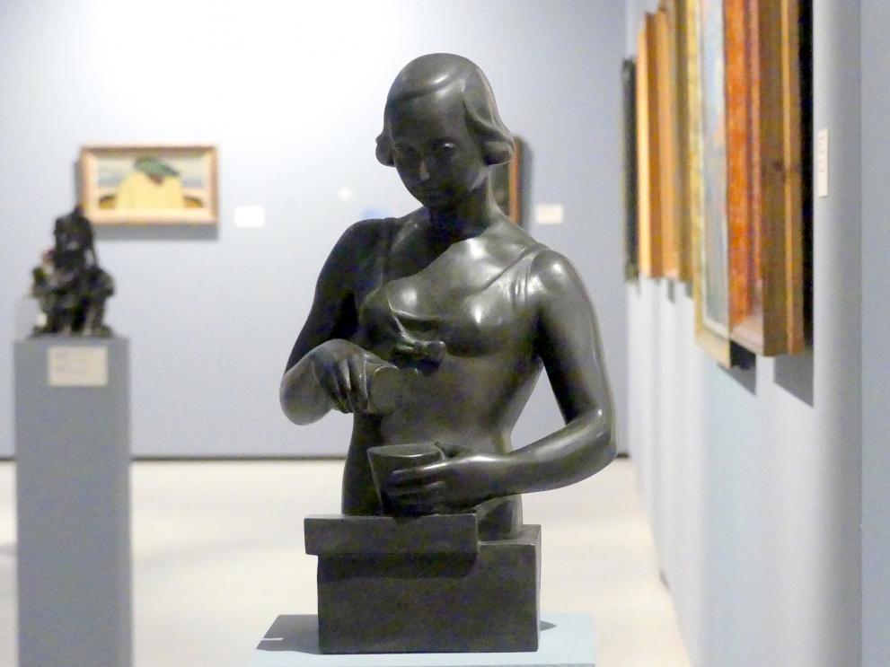 Fraňo Štefunko: Frau mit Geschirr, 1934