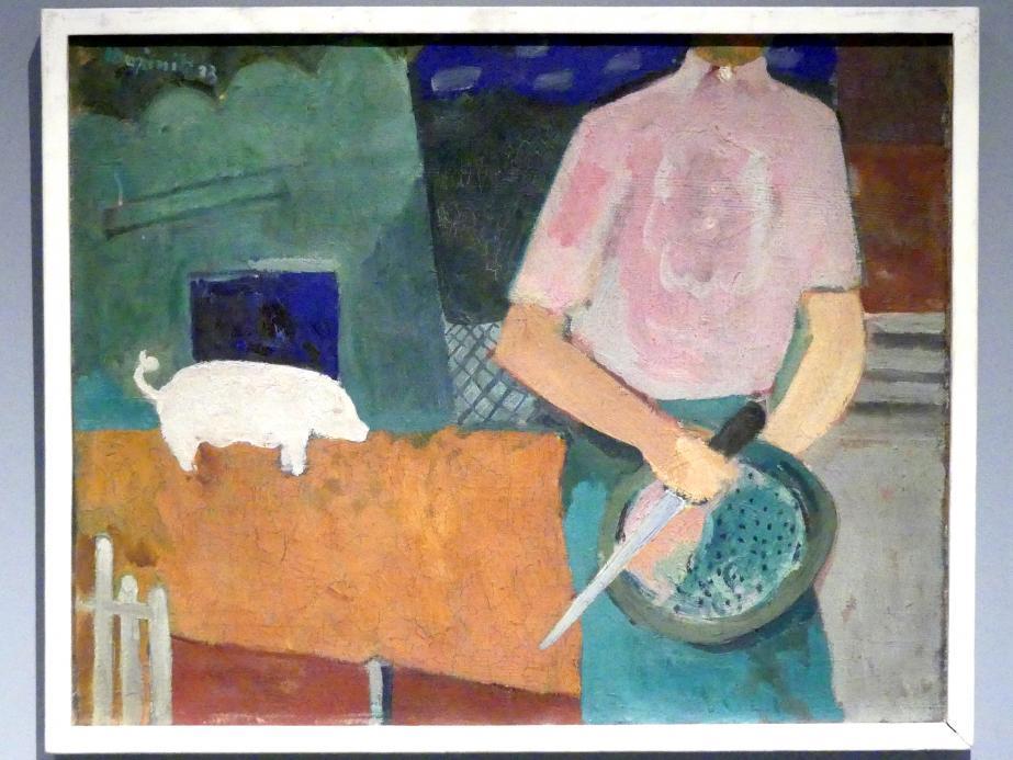 Cyprián Majerník: Schweineschlachtung, 1933