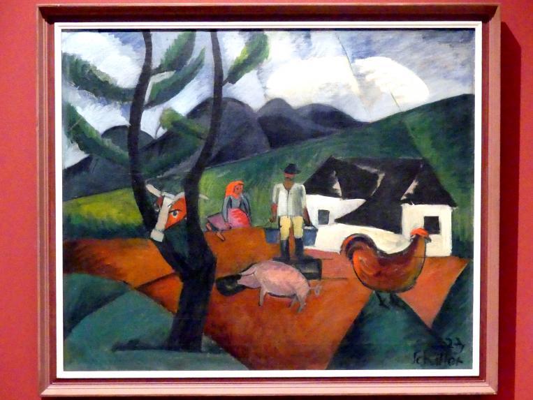 Gejza Schiller: Bauernhof, 1923
