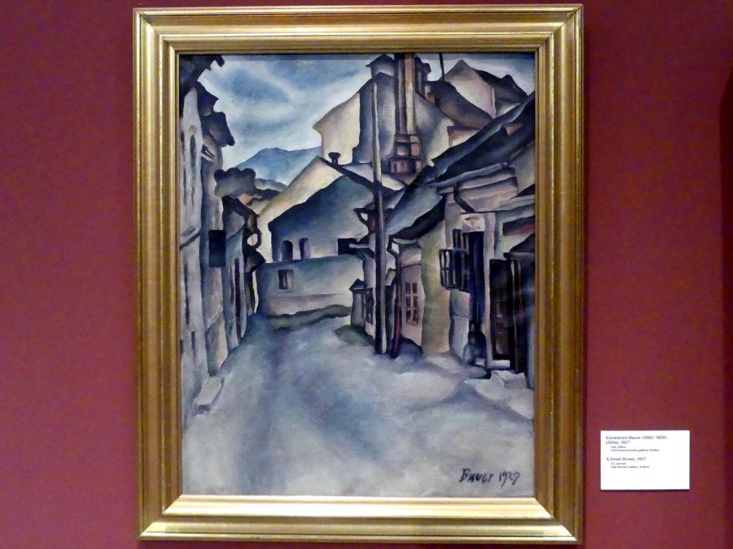 Konštantín Bauer: Schmale Straße, 1927