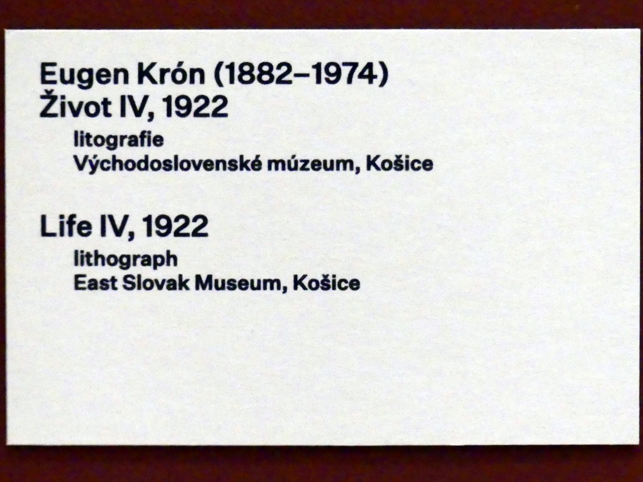 Eugen Krón: Leben IV, 1922, Bild 3/3