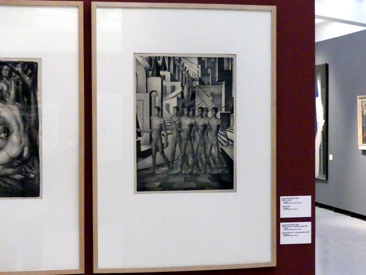 Eugen Krón: Kreativer Geist II -  Gruppe von Männern, 1925, Bild 2/3