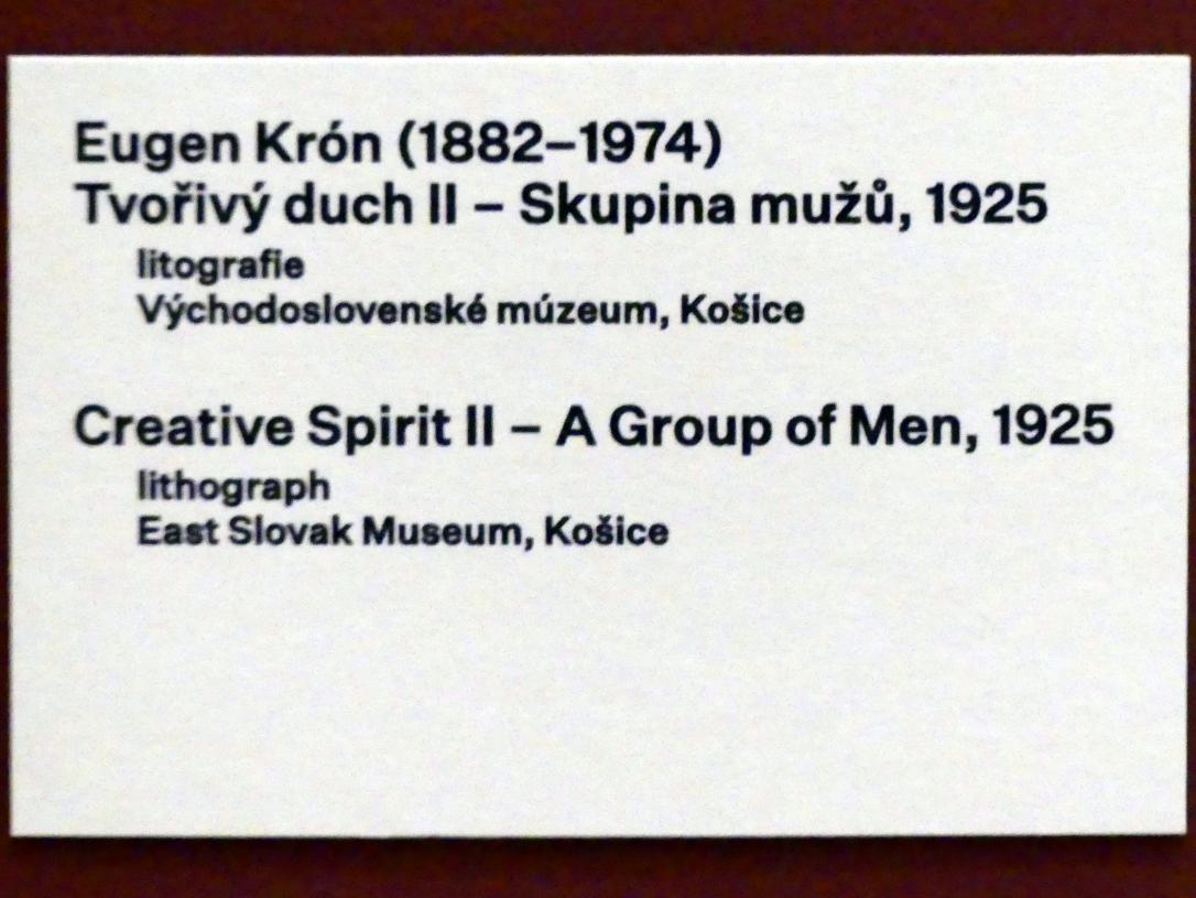 Eugen Krón: Kreativer Geist II -  Gruppe von Männern, 1925, Bild 3/3