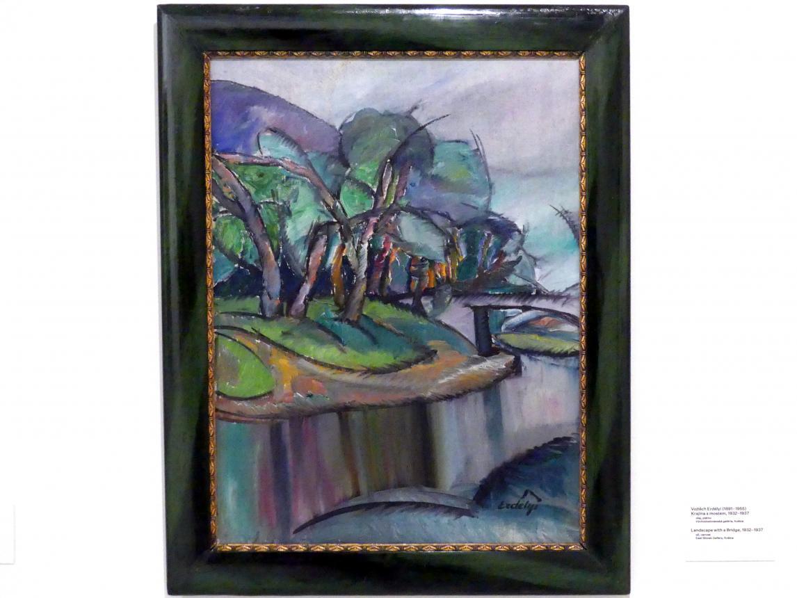 Vojtěch Erdélyi: Landschaft mit Brücke, 1932 - 1937