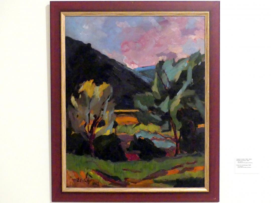 Vojtěch Erdélyi: Blick auf eine Landschaft, 1928
