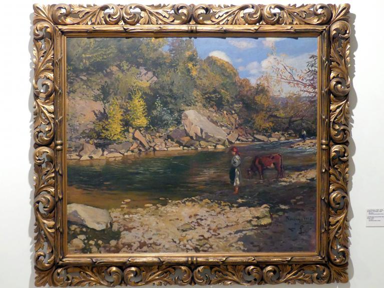 Jozef Bokšay: Landschaft am Fluss Hornád, 1937