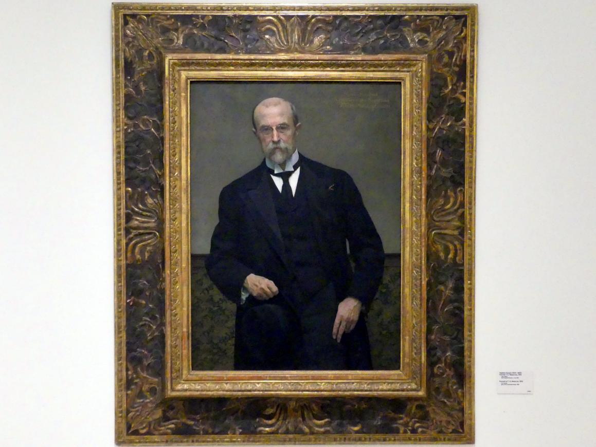 Vojtěch Hynais: Porträt Tomáš Garrigue Masaryk, 1919