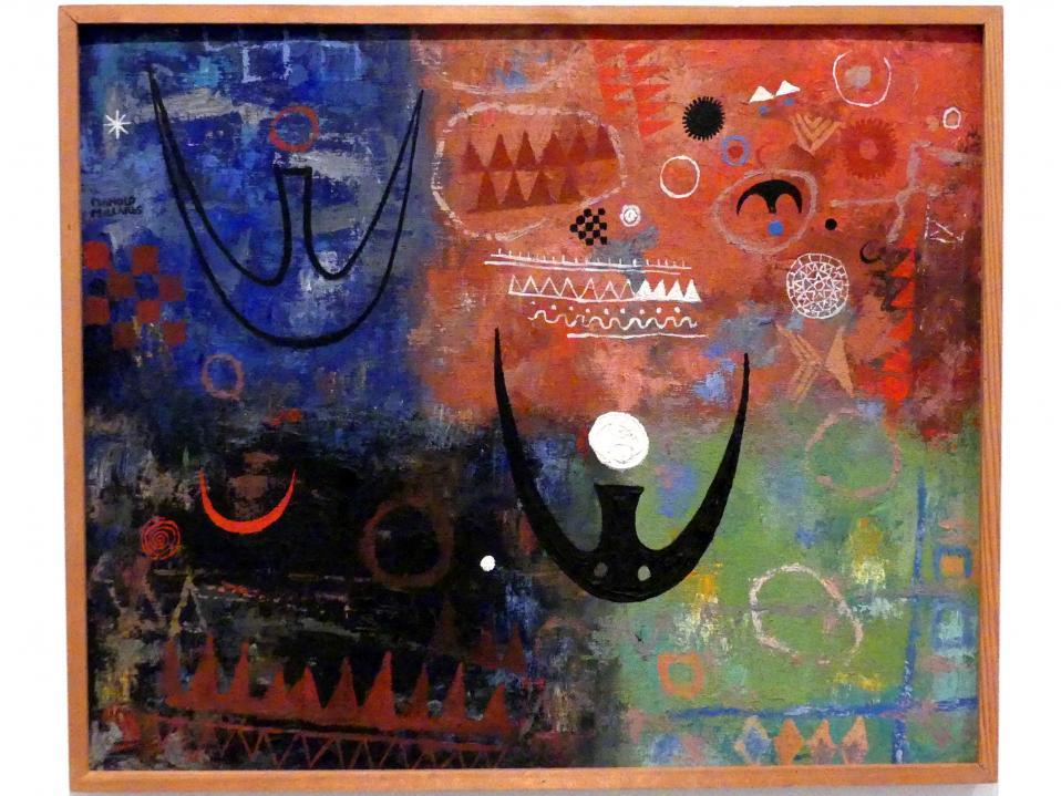 Manolo Millares (Manuel Millares): Kanarisches Piktogramm, 1951