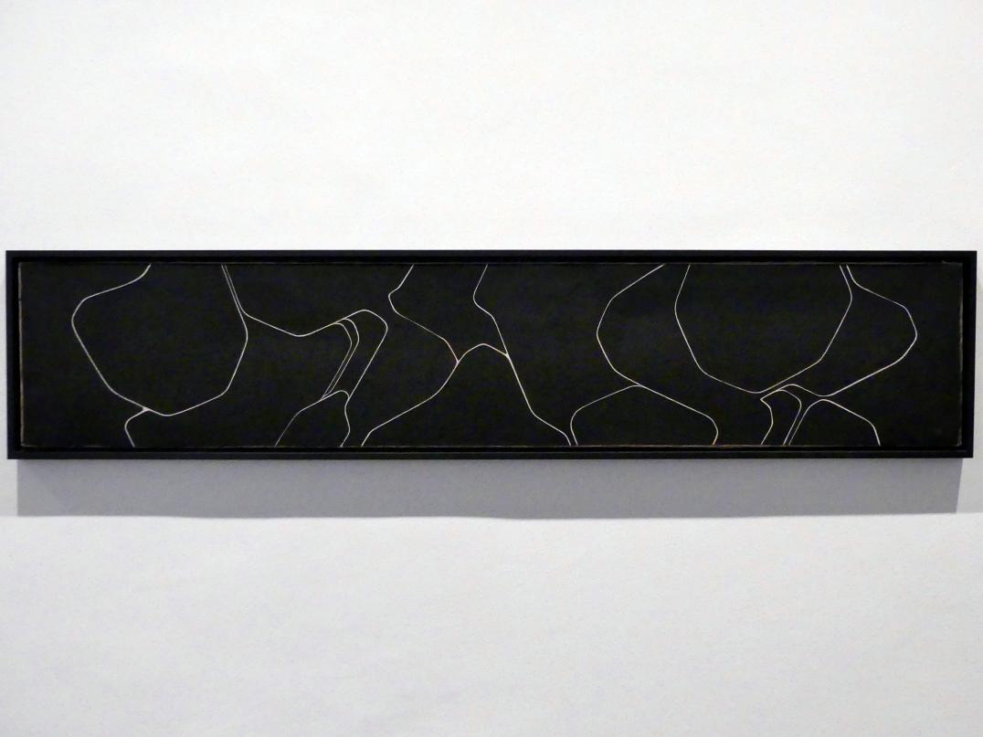 Pablo Palazuelo: Zeichnen auf Schwarz, 1961