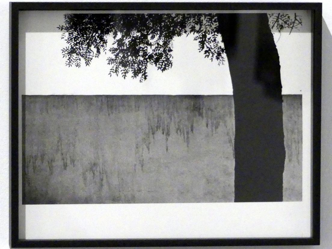 Francisco Gómez: Baum und Gartenmauer, 1962