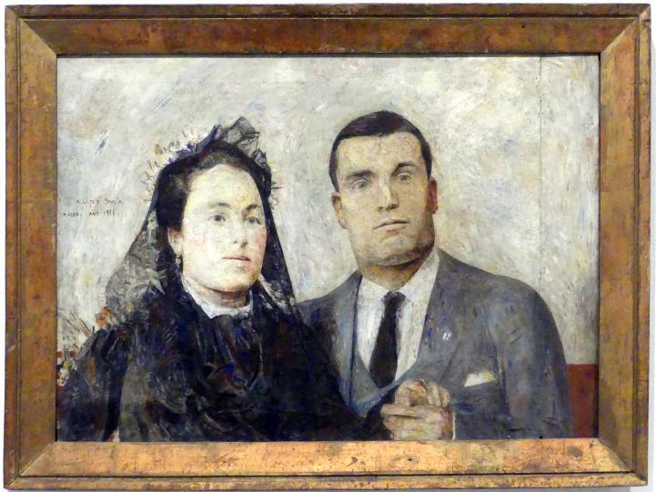 Antonio López García: Antonio und Carmen, 1956