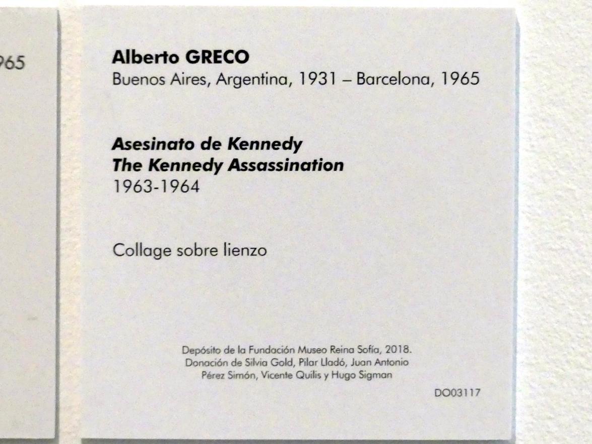 Alberto Greco: Das Kennedy-Attentat, 1963 - 1964, Bild 2/2