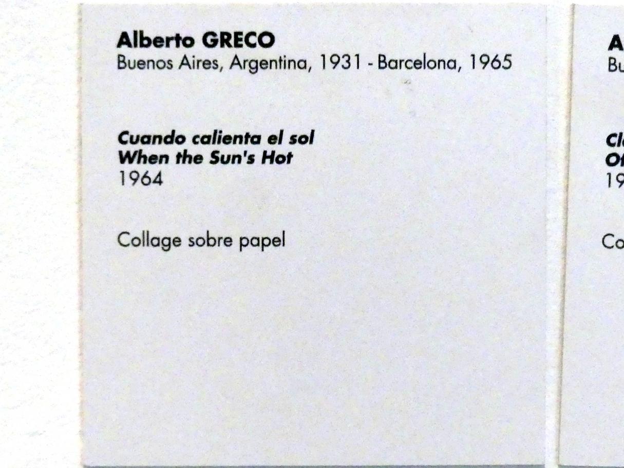 Alberto Greco: Wenn die Sonne brennt, 1964, Bild 2/2