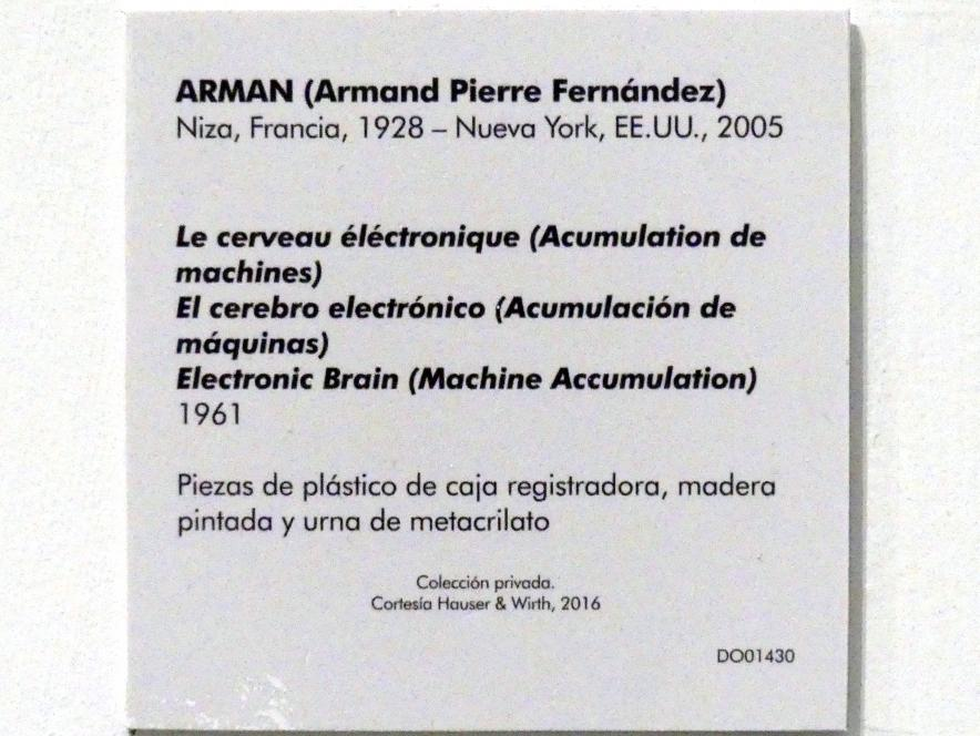 Arman: Elektronisches Gehirn (Maschinenhäufung), 1961, Bild 5/5
