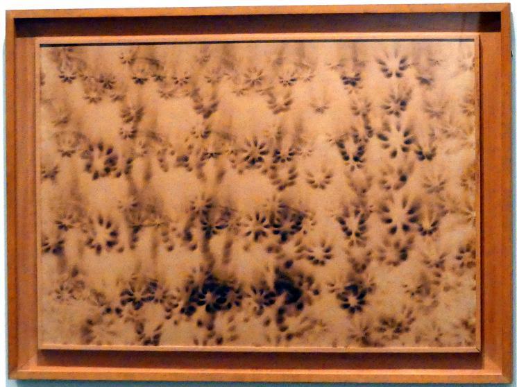 Yves Klein: Feuermalerei ohne Titel mit Verbrennungen von Krefeld's Feuerwand (F 45), 1961