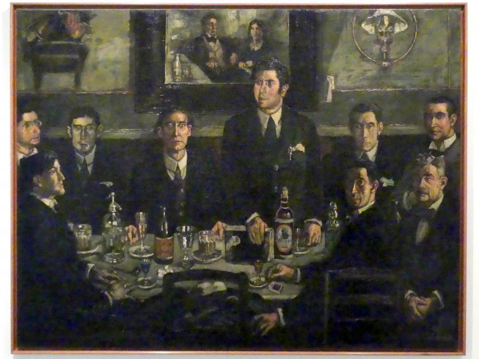 José Gutiérrez Solana: Die Versammlung im Café de Pombo, 1920