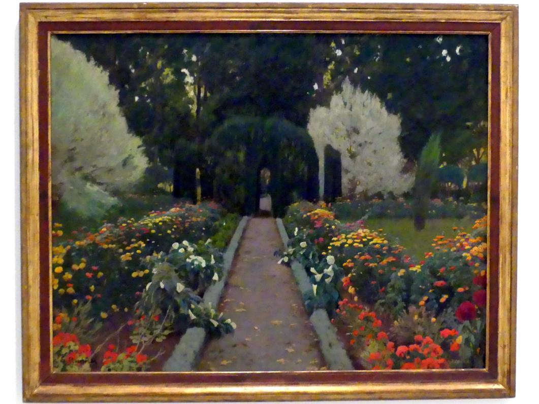 Santiago Rusiñol: Garten von Aranjuez. Laube, II, 1907