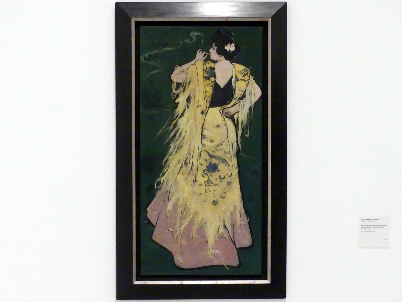 Julio Romero de Torres: Manola (Entwurf für ein Werbeplakat), um 1900 - 1910