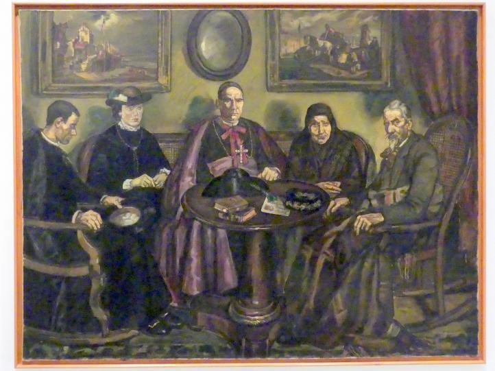 José Gutiérrez Solana: Bischofsvisite, 1926