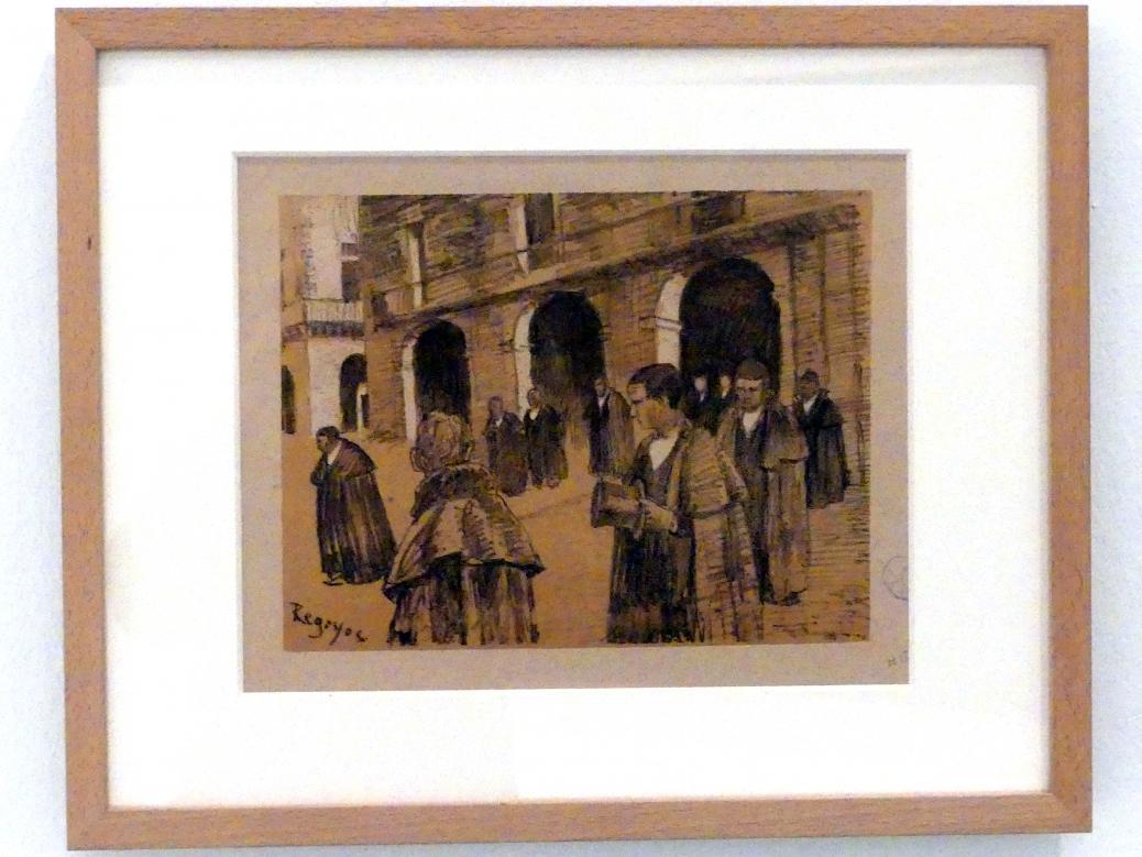 Darío de Regoyos: Oñate (Beerdigung), 1897