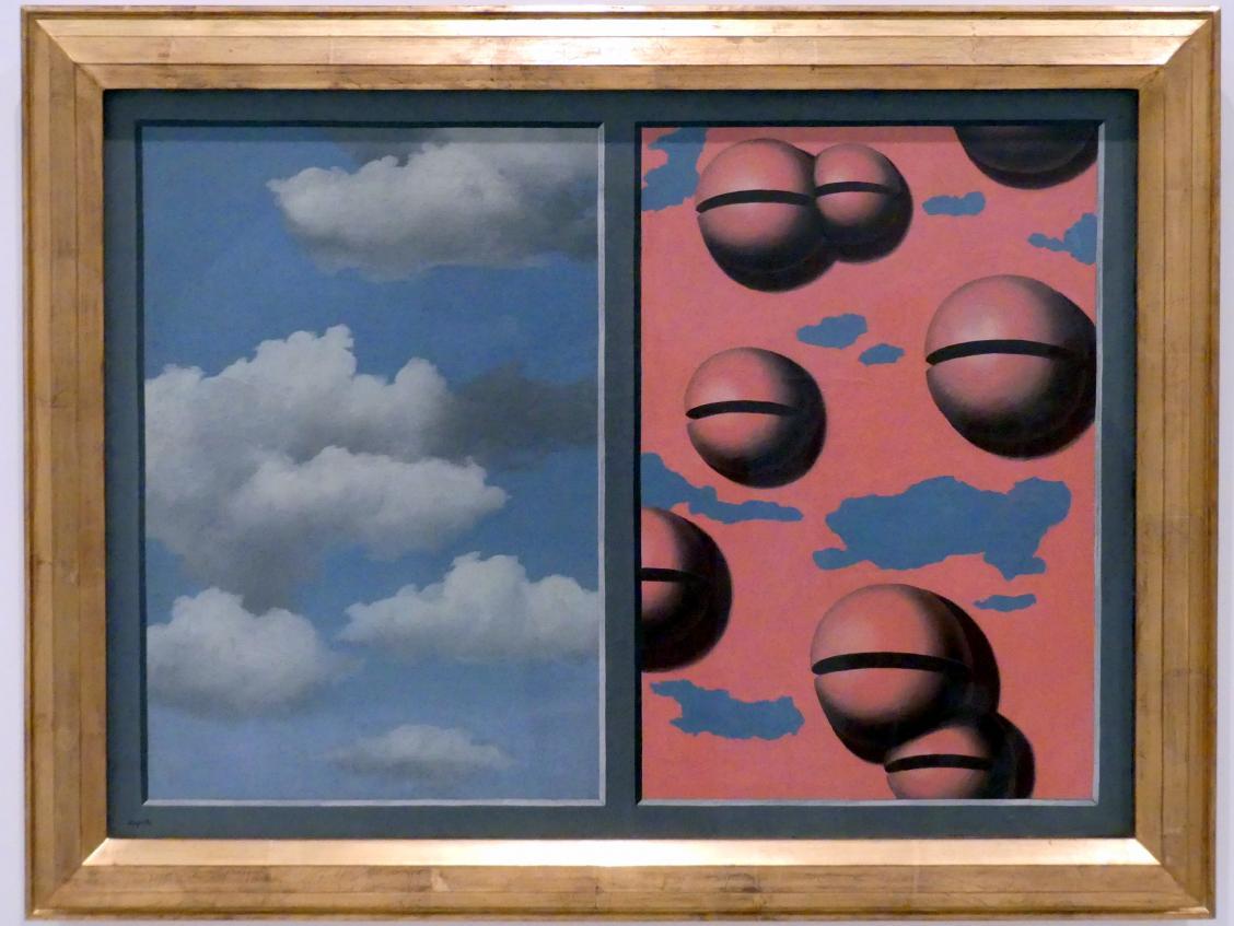 René Magritte: Rosa Glocken, zerlumpter Himmel, 1930