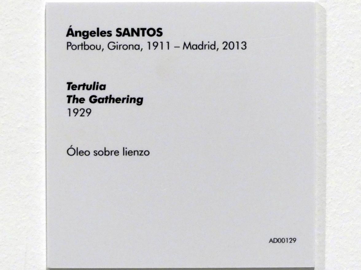 Ángeles Santos Torroella: Geselliges Beisammensein, 1929, Bild 2/2