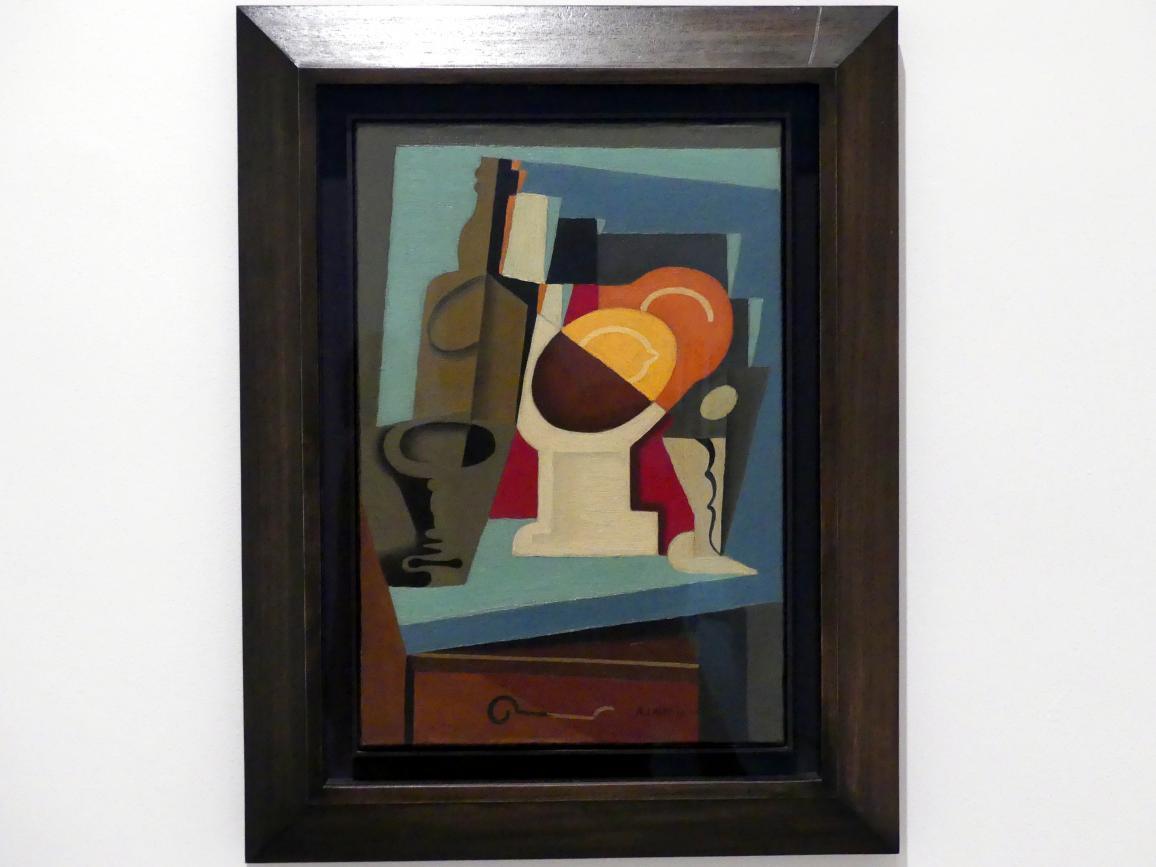 André Lhote: Kubistisches Stillleben, Flasche und Glas, 1917