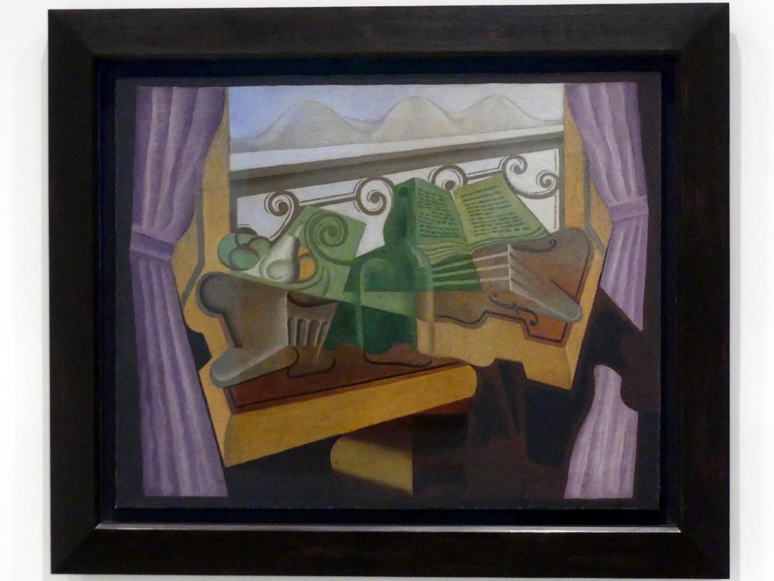 Juan Gris: Offenes Fenster mit Bergen, 1923