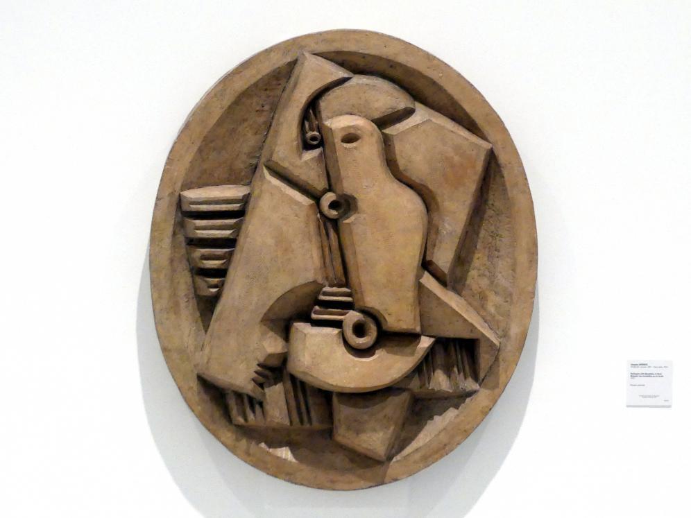 Jacques Lipchitz: Harlekin mit Mandoline in Oval, 1923